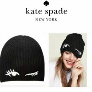 Kate Spade - New With Tags Black Winking Hat…